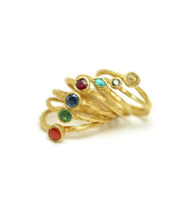 Chakra Ring Set - Gold