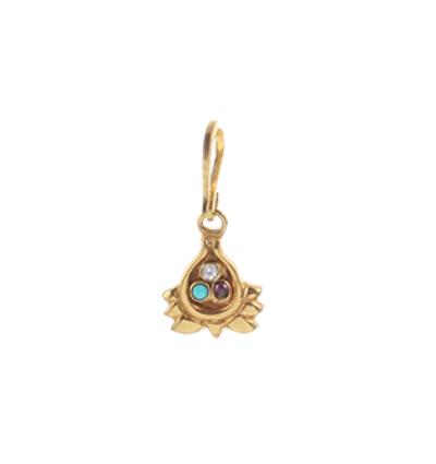 Half Lotus Charm - Gold