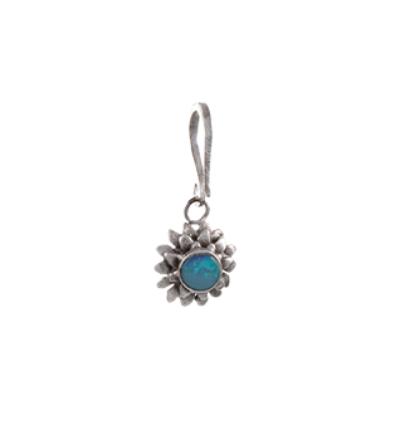 Small Lotus Charm - Silver