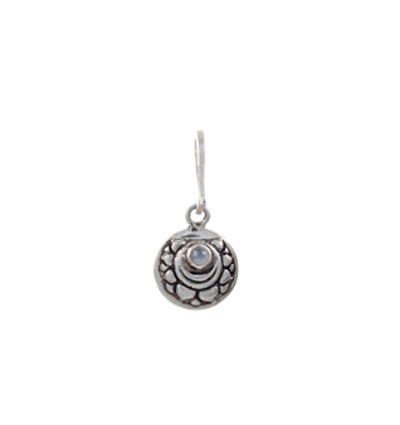 The Crown Chakra charm silver