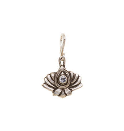 Small Lotus Amulet - Silver