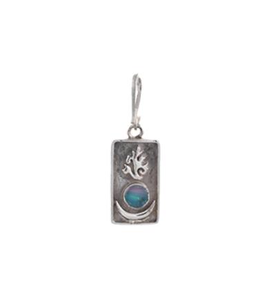 Sun Moon Flame Charm - Silver