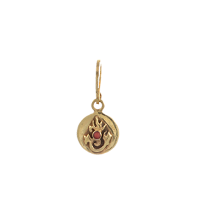 Tibetan Flame Charm - Gold