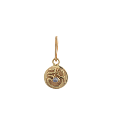 Tibetan Moon Charm - Gold