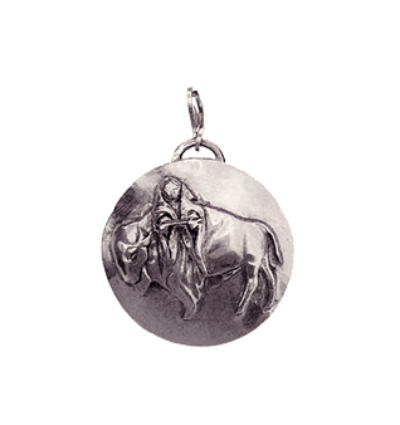White Buffalo Calf Woman Amulet - Silver