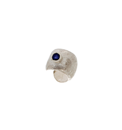 Ear Cuff with Blue Sapphire Silver