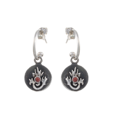 Tibetan Flame Earrings - Silver