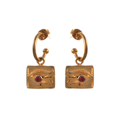 Right Eye of Horus Earrings - Gold