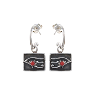 Right Eye of Horus Earrings - Silver