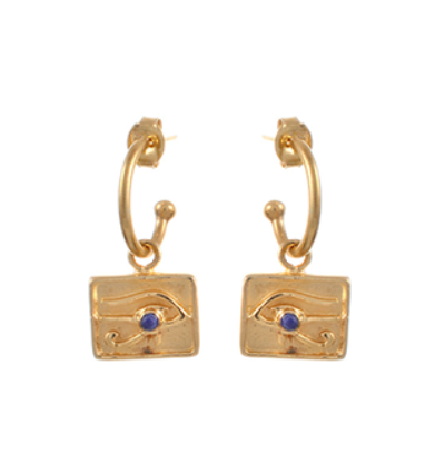Left Eye of Horus Earrings - Gold