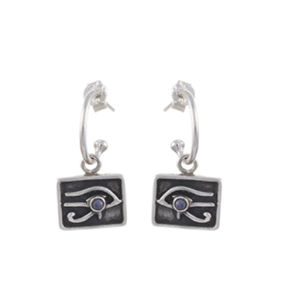 Left Eye of Horus Earrings - Silver