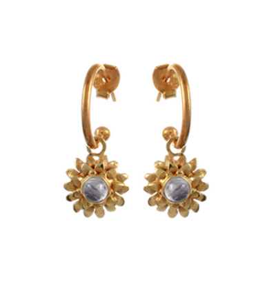 Lotus Earrings - Gold