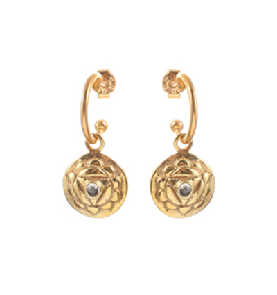 The Manipuraka Earrings - Gold