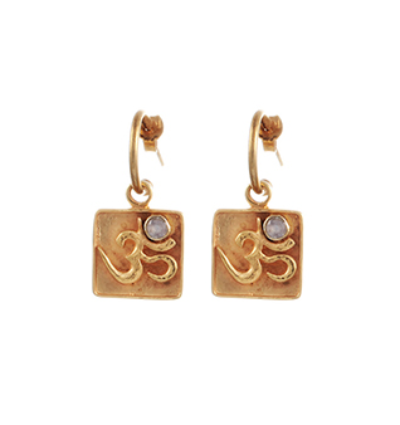 OM Earrings - Gold