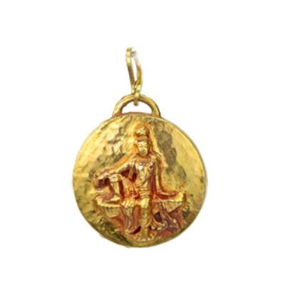 Kwan Yin Amulet - Gold