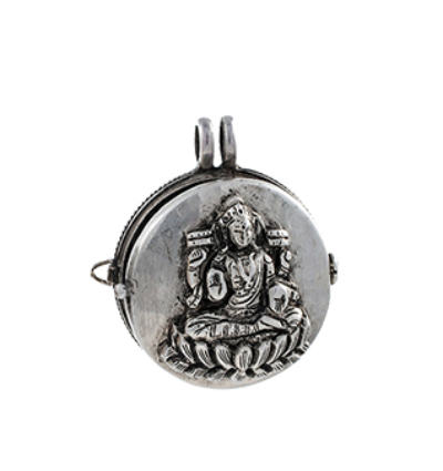 Laxmi Locket - Silver