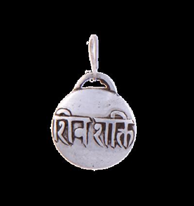 Mantra - Shiva Shakti Amulet - Silver