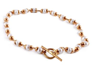 Goddess Bracelet Laxmi Pearl - Gold