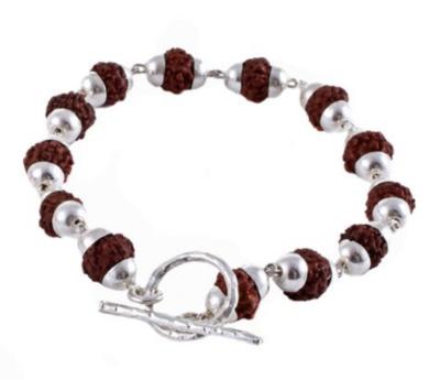Goddess Bracelet Siva Rudraksha - Silver