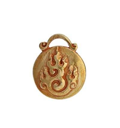 Fire Amulet - Gold