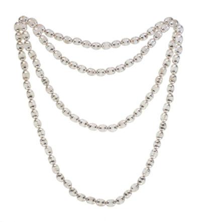 Himalayan Quartz Crystal Mala - Silver
