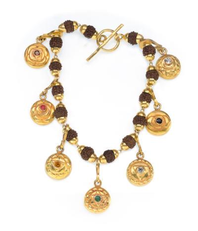 The 7 Chakra Charm Bracelet-gold