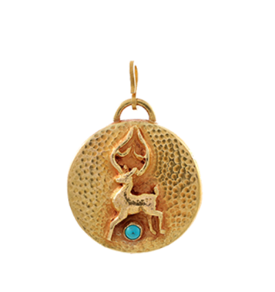 Deer Amulet - Gold