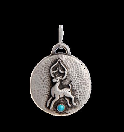 Deer Amulet - Silver