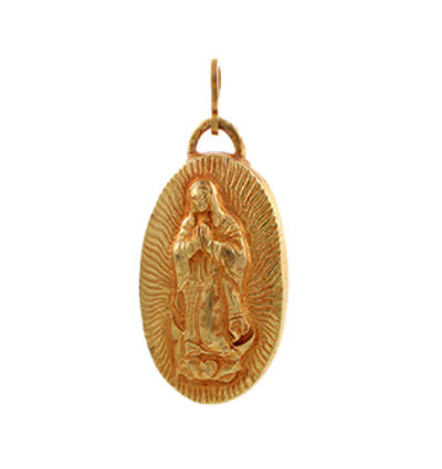 La Virgen de Guadalupe Amulet - Gold