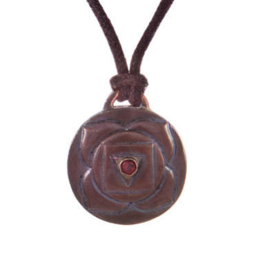 Root Chakra Amulet with cord - Copper