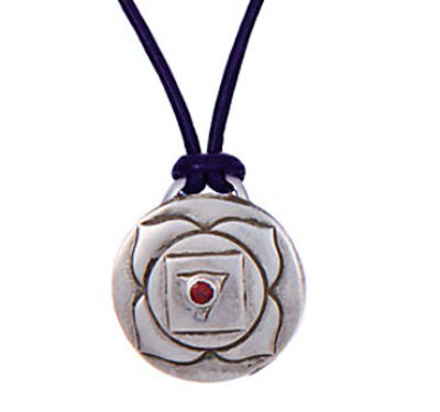Root Chakra Amulet with cord - Silver