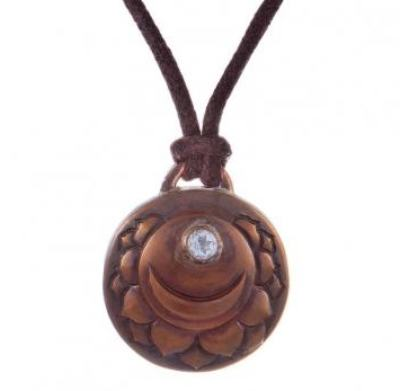 Crown Chakra Amulet with cord - Copper