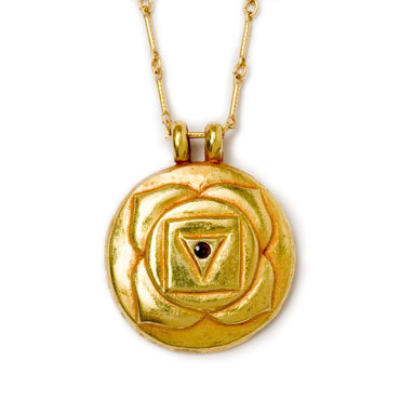 Root Chakra Amulet with chain - Gold