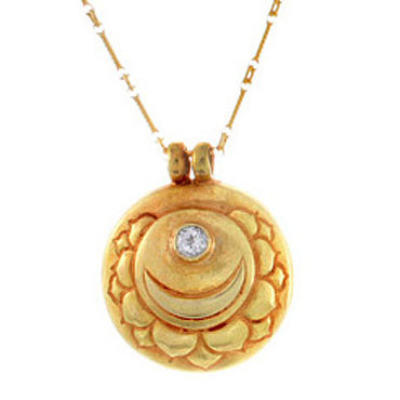 Crown Chakra Amulet with chain - Gold