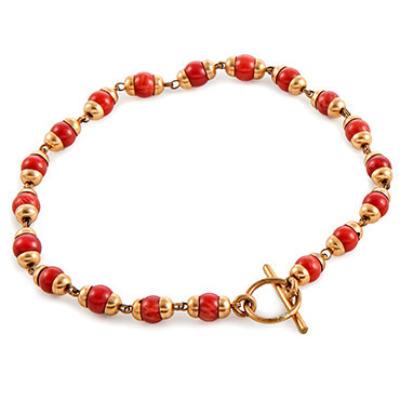 Coral Bracelet - Gold