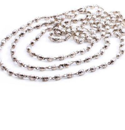 Laxmi Pearl Longing- Silver