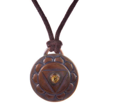 Navel Chakra Amulet with cord - Copper