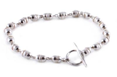Goddess Bracelet Laxmi Pearl - Silver