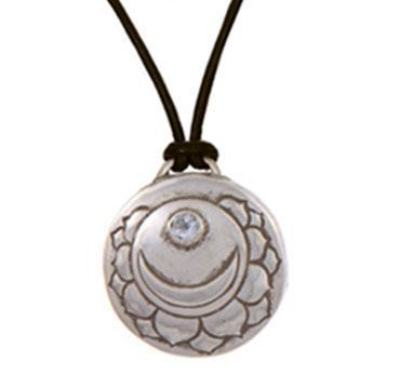 Crown Chakra Amulet with cord - Silver
