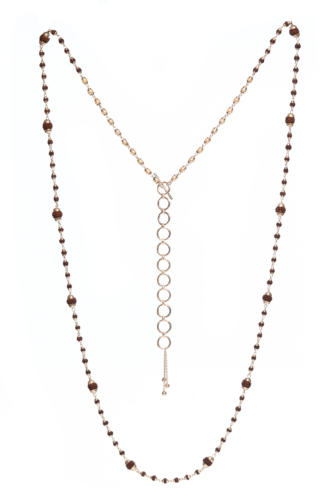 Rudrani Pearl Rudraksha Mixed Necklace - Silver
