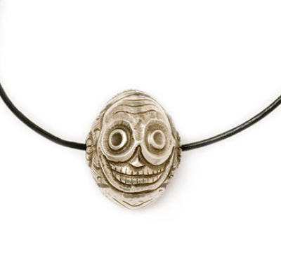 Three Skulls bead - Silver
