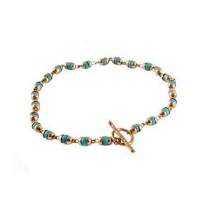 Goddess Bracelet Tara Turquoise - Gold